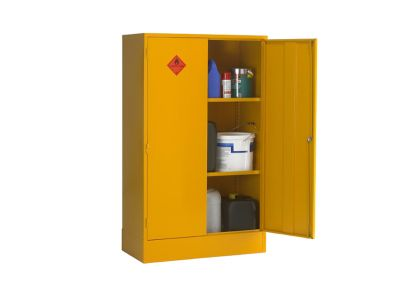 Double Door 2 Shelf Flammable Liquid Storage Cabinet