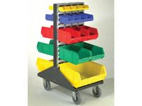 Double Sided Mobile Louvre Panel and Palstic Bin Kit