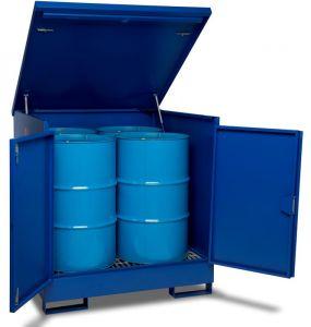Armorgard DrumBank 4 Drum Enclosed Spill Pallet