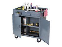 Durham mfg 662-95 Mobile lockable cabinet and bin cart