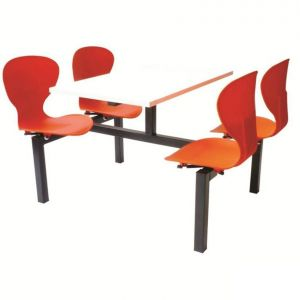 Easy Clean Mixbury Fast Food Seating Unit - 6 Seater