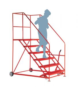 Easy Slope Safety Steps, 6 treads