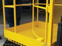 Premier forklift gated access platform