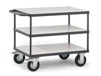 Fetra ESD 3 shelf trolley 1200Lx800W, 500kg capacity