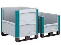 Euro container - half drop door on long side +lid