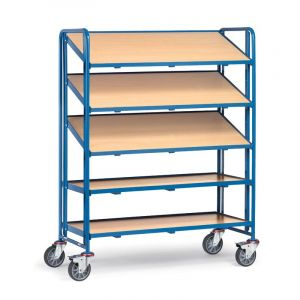 Fetra Euro Container Trolley, boarded shelf model