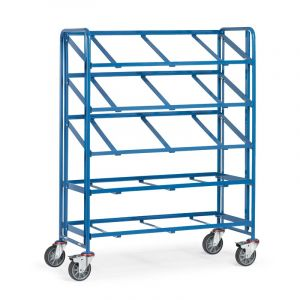 Fetra Euro Container Trolley, open framed model