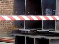 Eurotape hazard barrier roll 75mm x 500m