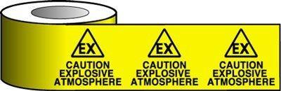 Explosive Hazard Printed Warning tape