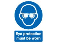 Eye Protection Mandatory Safety Signs - 100 x 75mm