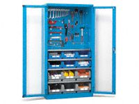 Fami View workshop cabinet with perforated top panel
