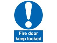 Fire Door Keep Locked Safety Signs - 100 x 75mm
