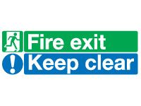 Fire Exit Keep Clear Signs