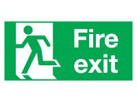Fire Exit Left Signs