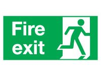 Fire Exit Right Signs