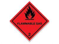 Flammable Gas Hazard Diamond Signs