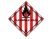 Flammable Solid Hazard Diamond Signs
