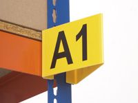 Flanged magnetic aisle marker upto 3 digits / side (1)