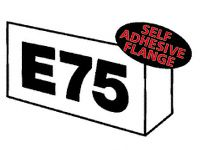 Flanged s/a aisle marker inc upto 3 digits ea side