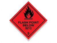 Flash Point Below 32C Hazard Diamond Signs
