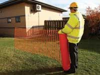 Flexible mesh plastic temporary fencing 50m