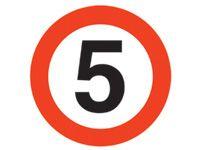 Floor marker sign: 5