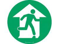 Floor marker sign: Exit Green Man