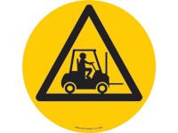 Floor marker sign: Forklifts Triangle