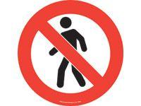 Floor marker sign: No People