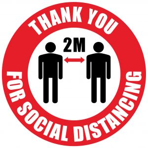 Social Distancing floor Sticker sign pack of 10