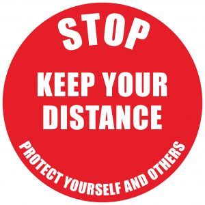Social Distance Marker Stop Keep Your Distance