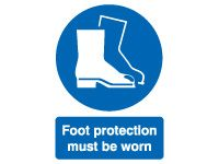 Foot Protection Must Safety Signs - 600 x 450mm