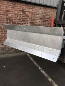 Forklift Mounted Snow Plough, blade width 1250mm