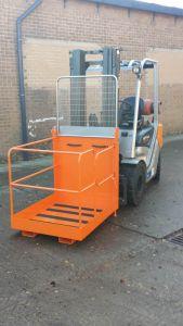 Forklift Access Platform Cage Attachment 1250 x 950 x 2030, side gate