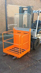 Forktruck Access Platform Cage Attachment 950 x 950 x 2030, side gate