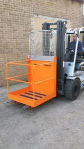 Forklift Access-Platform Cage Attachment 950 x 950 x 2030, lift-up bar