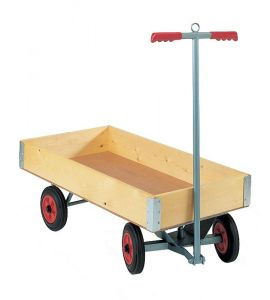 Four wheeled Truck, flat platform with boxed body