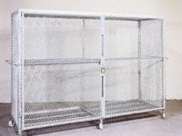 Fully Enclosed Galvanised Security Cages - 1600mm High