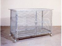 Fully Enclosed Galvanised Security Cages - 800mm High