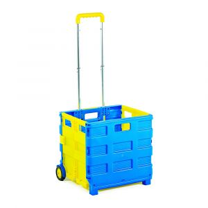 Blue & Yellow Folding Box Trucks With Compartment