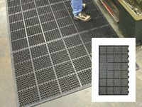 High duty anti fatigue mat edged 1long 2short side