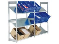 Inclined Shelving starter bay with 3 shelves