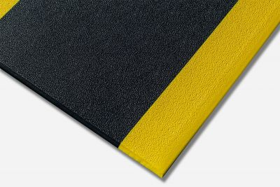 Kumfi Pebble Anti-Fatigue Black and Yellow Matting