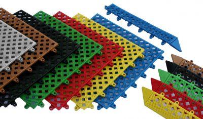 Kumfi Tile PVC Interlocking Duckboard Matting System