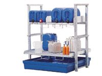 Small Item / Container Gridded Stackable Rack