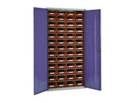 Steel storage cabinet, model 3 with red bins