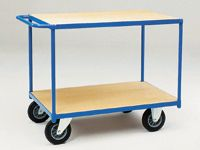 Fetra Table top Cart 1200x800mm with 2 timber shelves
