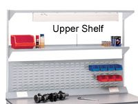 Workbench accessory - 1800mm steel upper shelf