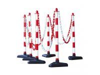 GUARDA Chain Post Kit  870h x 300w x 300d mm Red/White Concrete Base