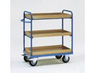 Fetra 3-shelf H/D Tray Trolley 1000x600mm L x W
